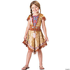 Colorful Indian Maiden Girl's Costume