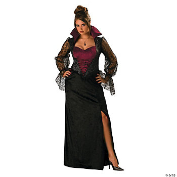 Midnight Vampiress Plus Size Women's Costume