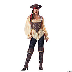 Rustic Pirate Lady Adult Women's Costume