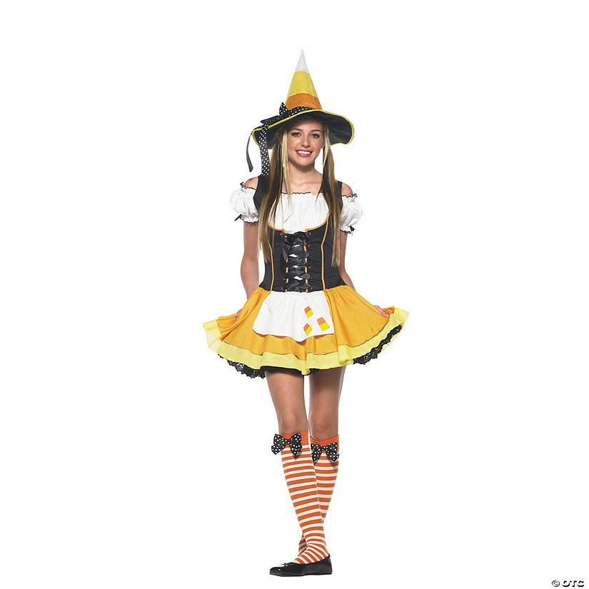 sc 1 st  Oriental Trading & Teen Girlu0027s Kandy Korn Witch Costume