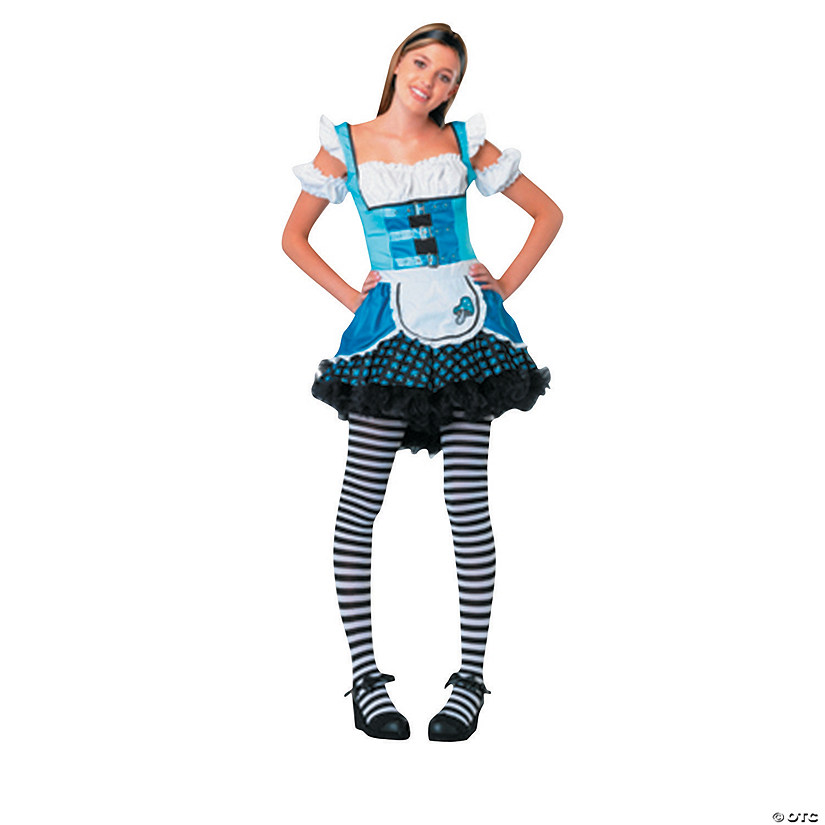 teen girls mushroom alice costume
