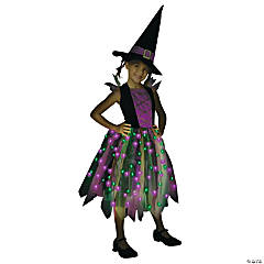Light Up Rainbow Witch Girl's Costume