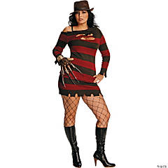 Miss Sexy Krueger Plus Size Adult Women's Costume