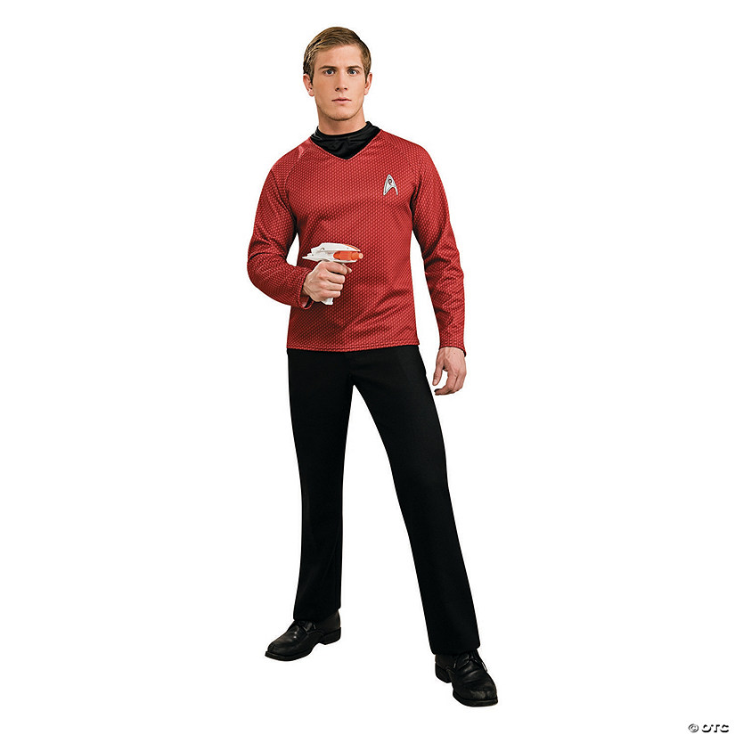 sc 1 st  Oriental Trading & Red Deluxe Star Trek™ Uniform - Movie Shirt Halloween Costume for Men