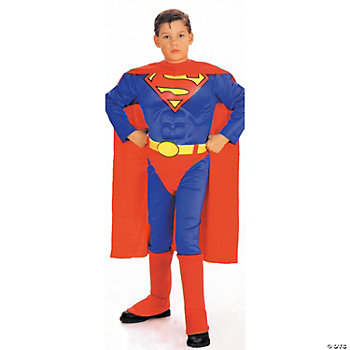 Superman Muscle Chest Boy's Costume