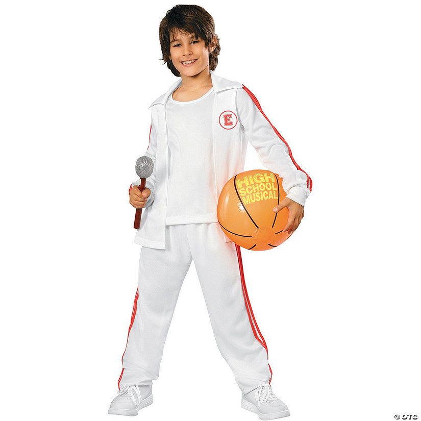 sc 1 st  Oriental Trading & Boyu0027s Deluxe High School Musical Warmup Suit for Troy Costume - Medium