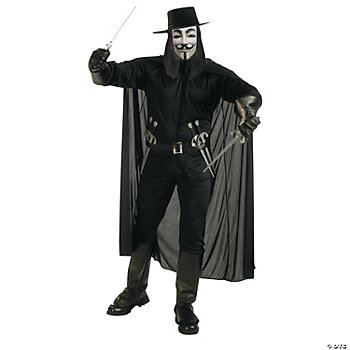 Guy Fawkes V For Vendetta Adult Men's Costume