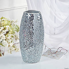 Mirrored Mosaic Vase
