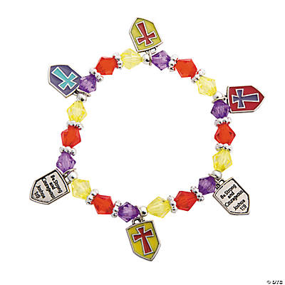 Religious Shield Charm Bracelet Craft Kit