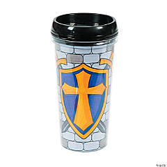 "Color Your Own ""Mighty Kingdom"" Travel Mugs"