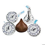 Personalized Grey & White Wedding Hershey's® Kisses®