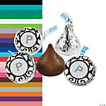 Personalized Grey & White Hershey's® Kiss® Labels