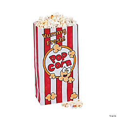 Color Your Own Popcorn Favor Bags