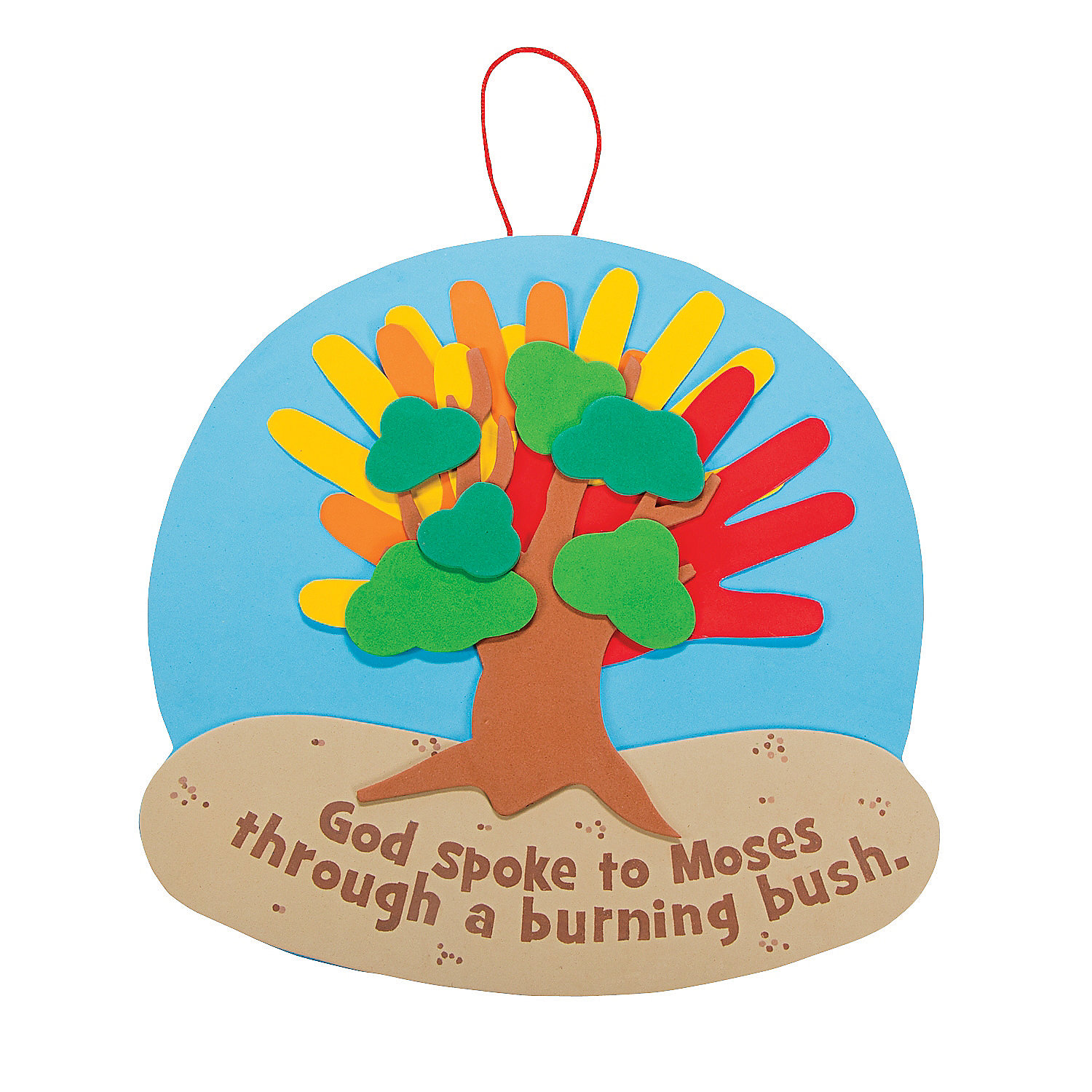 Handprint Burning Bush Sign Craft Kit, Decoration Crafts ...