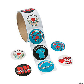 Sassy Nurse Sticker Rolls Oriental Trading Discontinued