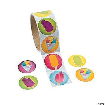 Summer Treats Sticker Rolls Oriental Trading Discontinued