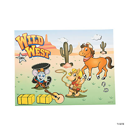 """Wild West"" Sticker Scenes"