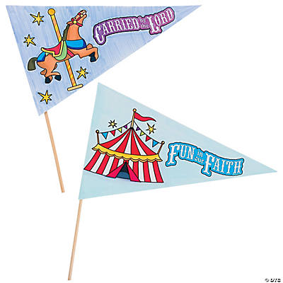 "Color Your Own ""Over the Top"" Pennant Flags"