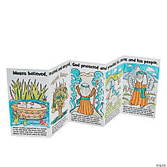 Color Your Own Moses Story Books