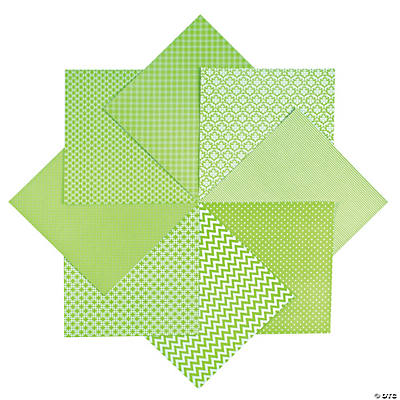 Monochromatic Green Paper Pack