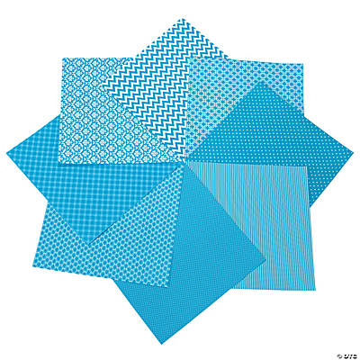 "Turquoise Monochromatic Paper Pack - 12"" x 12"""