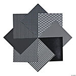 Black Monochromatic Paper Pack - 12