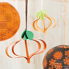 Paper Pumpkin Ornaments Idea