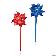 Red & Blue Pinwheel Pens