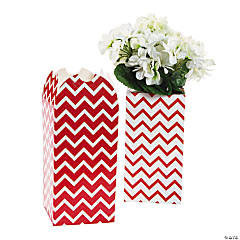 Red Chevron Bouquet Boxes