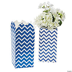 Blue Chevron Bouquet Boxes