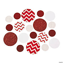 Red Chevron Jumbo Confetti