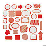 Red Monochromatic Die Cut Shapes