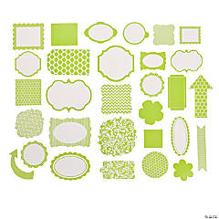 Green Monochromatic Die Cut Shapes