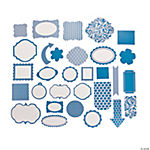 Blue Monochromatic Die Cut Shapes