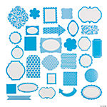 Turquoise Monochromatic Die Cut Shapes