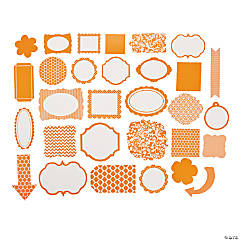 Orange Monochromatic Die Cut Shapes