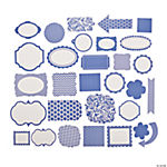 Purple Monochromatic Die Cut Shapes