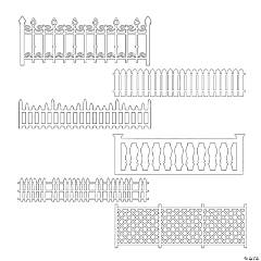 Picket Fence Stencils