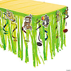"""Jungle Journey"" Table Skirt With Cutouts"