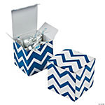Blue Chevron Gift Boxes