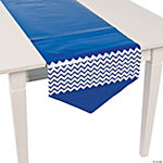 Blue Chevron Table Runner