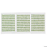 Monochromatic Green Self-Adhesive Pearls