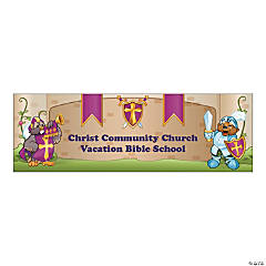 "Personalize ""Mighty Kingdom"" Small Banner"