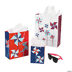 Patriotic Pinwheel Gift Bag Assortment