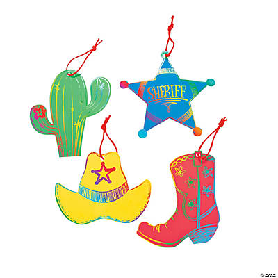 "Magic Color Scratch ""Wild West"" Ornaments"