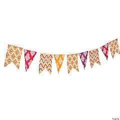 Ikat Pennant Banner