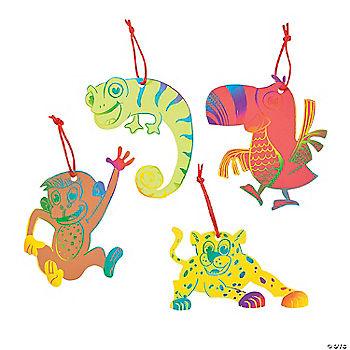 magic color scratch safari ornaments