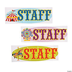 """Over The Top"" ""Staff"" Iron-On Transfers"