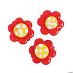 Red Floral Lampwork Beads