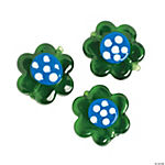 Green Floral Lampwork Beads